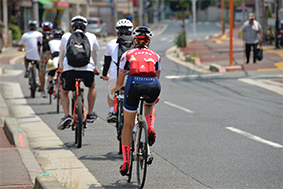 自転車の聖地・柏原を目指して